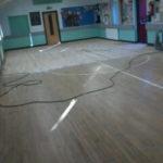 Gym floor prep work